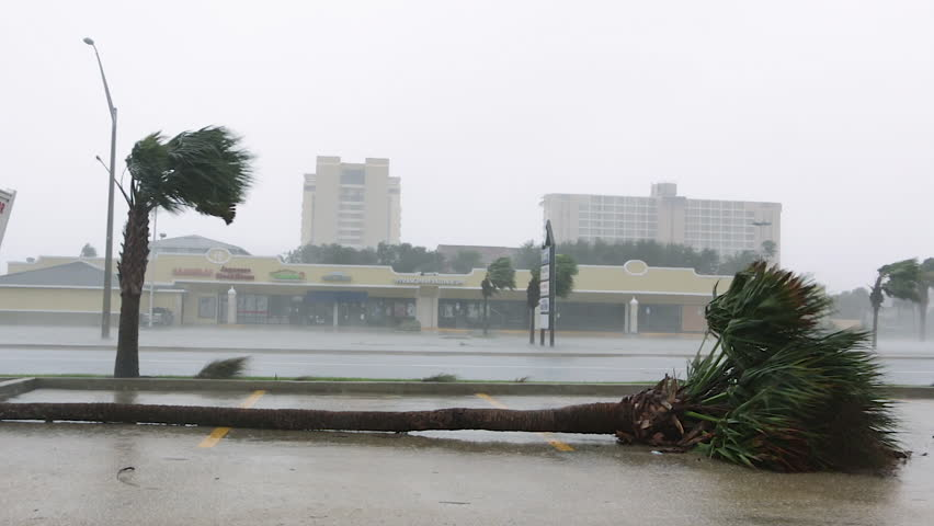 Hurricane Damage in Coastal Town Royalty-Free Stock Footage #33874267