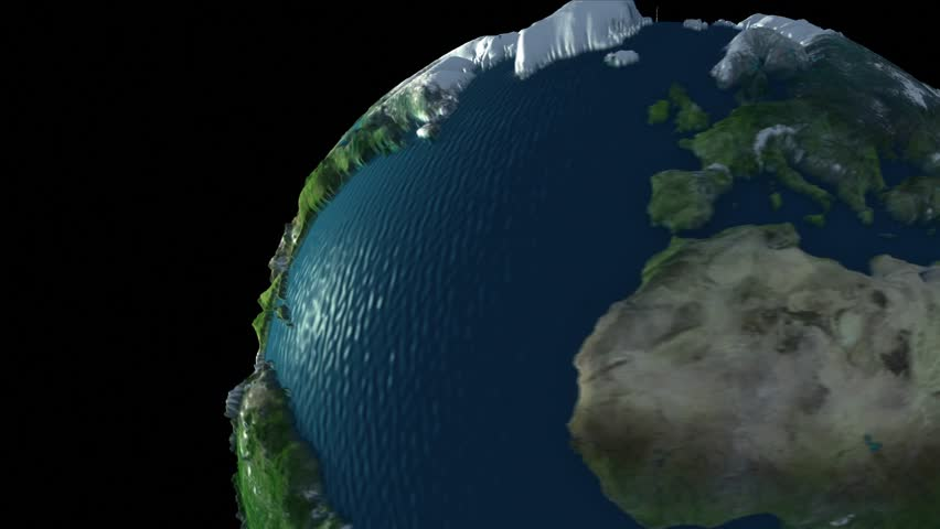 Spinning Earth Globe That Has Vertically Exaggerated Terrain Map - Earth terrain map