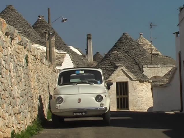 Alberobello is famous for trulli. A trullo is a traditional stone dwelling with a conical roof
