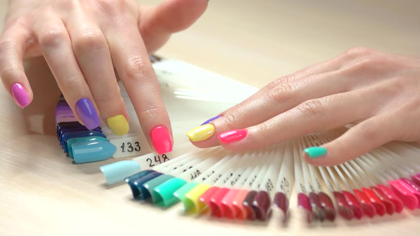 Multicolored Manicure and Nail Polish Stock Footage Video (100%  Royalty-free) 33983695   Shutterstock