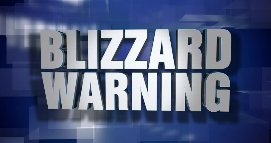 A blue dynamic 3D Blizzard Warning transition and title page animation. 5 and 2 second options included with optional luma matte for both.  | Shutterstock HD Video #33987049