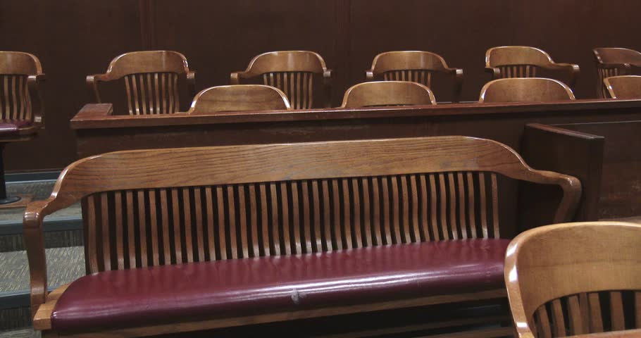 Pan Of Jury Box In Courtroom | Shutterstock HD Video #33990067
