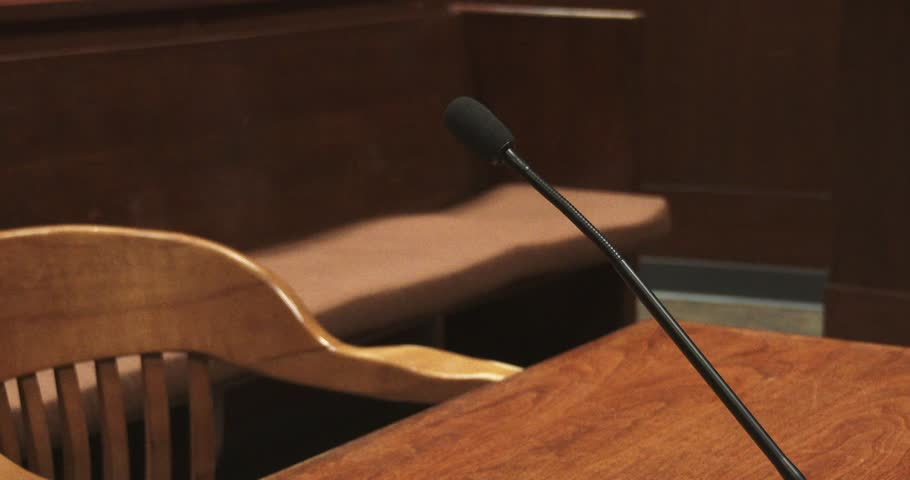 Microphone In Courtroom | Shutterstock HD Video #33990094