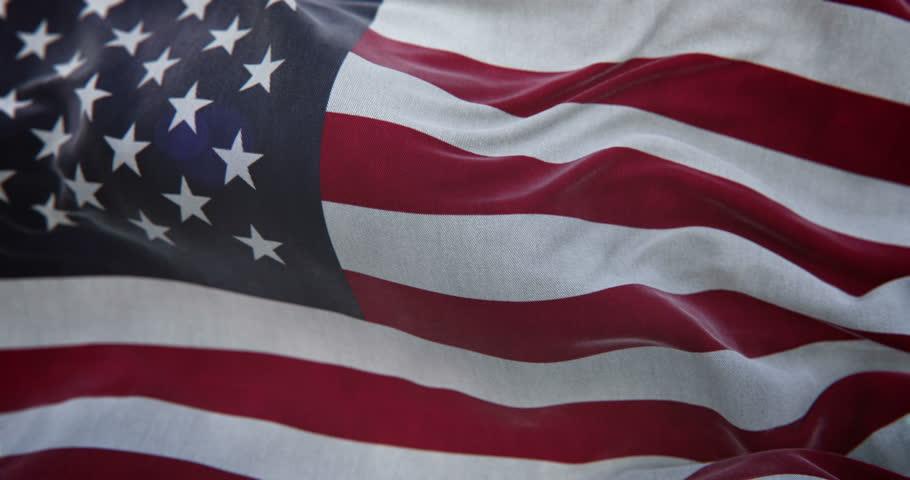 USA Flag Slow Motion Loop