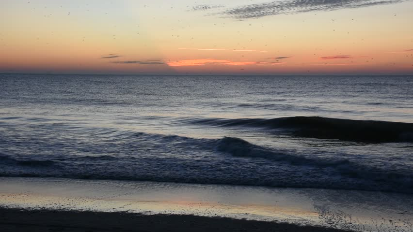 Sunrise at Myrtle Beach South Carolina in December