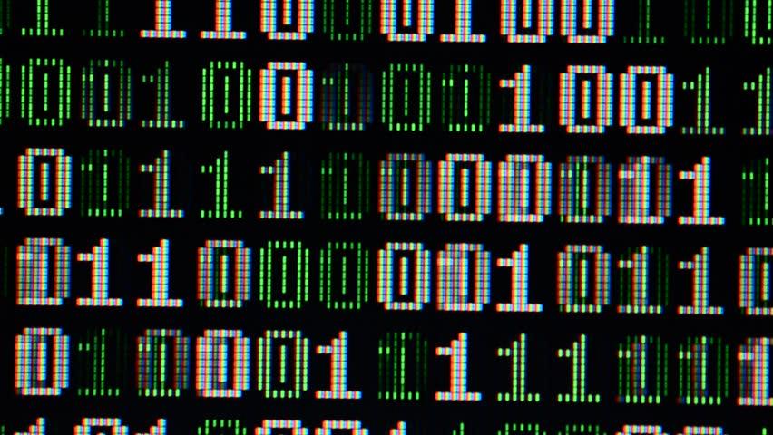 Binary code on the monitor screen. #34065637