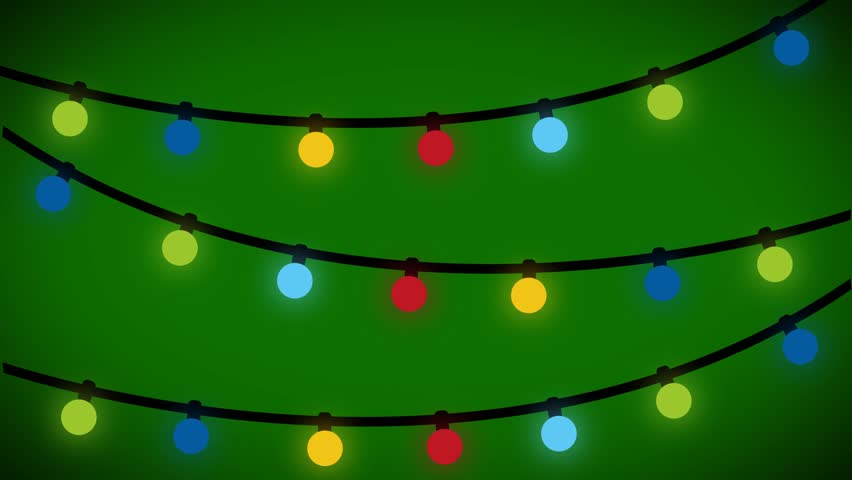 Christmas Lights Background Animated