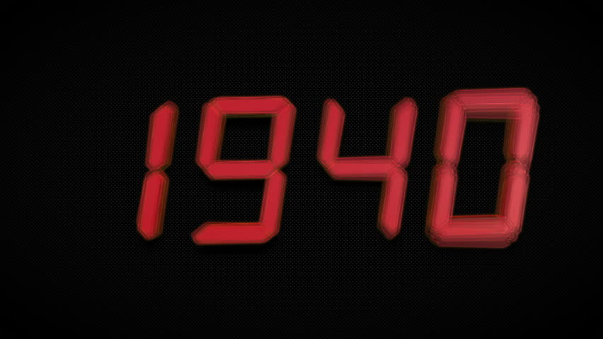 From 1940 To 2030 Countdown Loop. Choose Your Year: 2017, 2018, 2019, 2020… Clock Countdown Timer Digital - 4K Ultra Animation