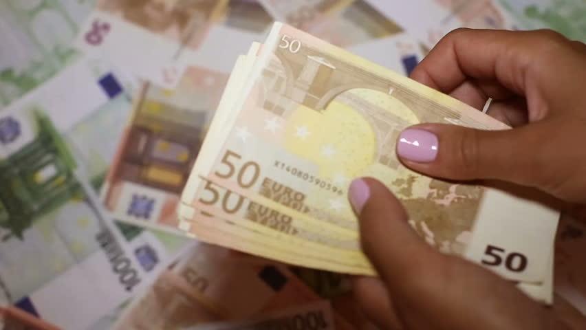 European currency in female hands | Shutterstock HD Video #34147324
