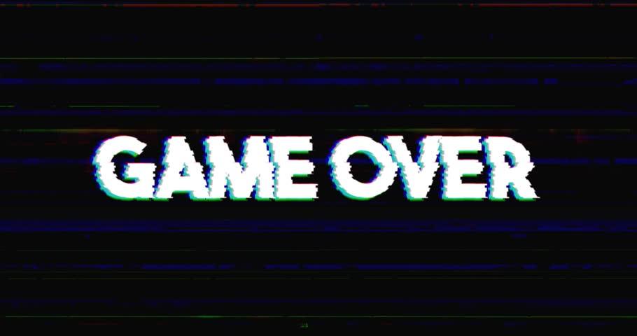 Glitch Stile Game Over Advertisement : стоковые видео (без ...