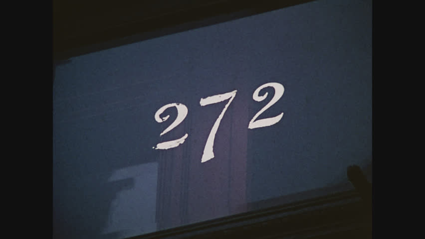 NEW YORK, 1971, 272 house number above door in Brooklyn | Shutterstock HD Video #34170166