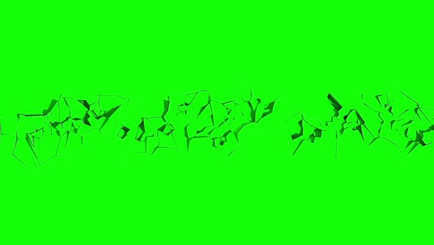Ground Crack Earthquake Top Green Screen 3D Renderings Animations