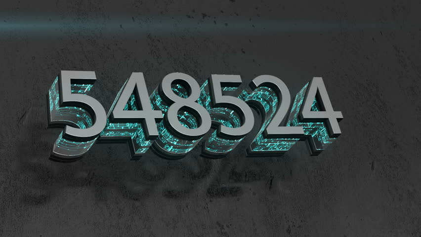 A changing six-digit figure. energy logo. cinematic background.   Shutterstock HD Video #34199608