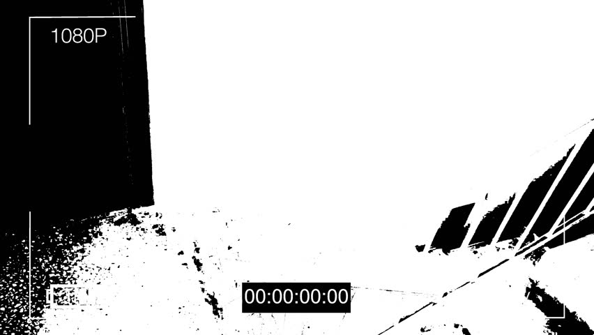 Surveillance camera caught the robber in a mask with a crowbar.threshold effect | Shutterstock HD Video #34207876
