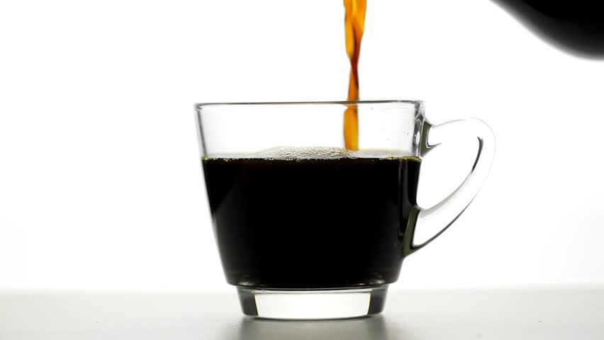 Pouring coffee and coffee cup on white background | Shutterstock HD Video #34262731
