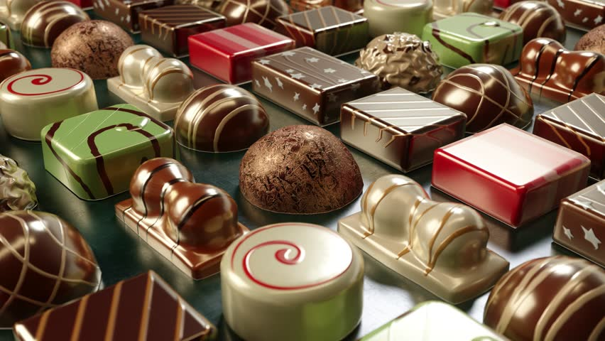 3d chocolate candies  looping animation  Royalty-Free Stock Footage #34269652