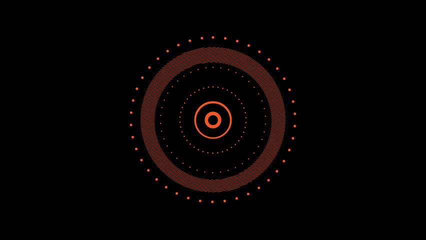 Circle Shape Elements Pack with Alpha Channel. 30 Flat Style Animated Shapes, Elements.