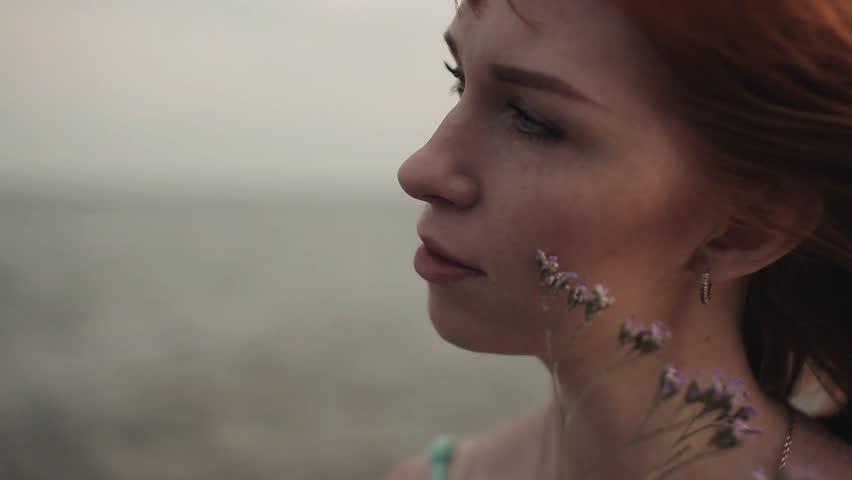 Portrait. Beautiful sexy girl. Sea. Beach   Shutterstock HD Video #34339363