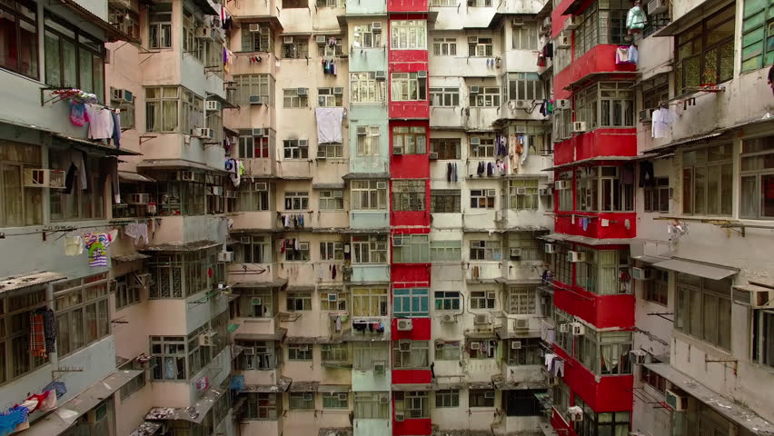 Yick Cheong buildings, Hong Kong, by Drone. | Shutterstock HD Video #34368403