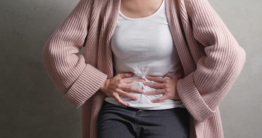 Woman suffer from diarrhea