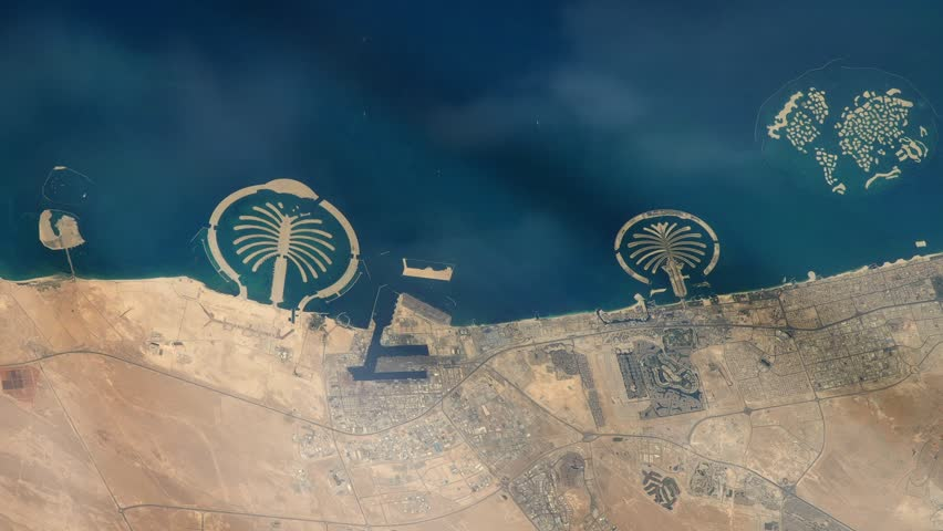 Dubai from Space, Seen from the International Space Station. Elements of this image furnished by NASA.