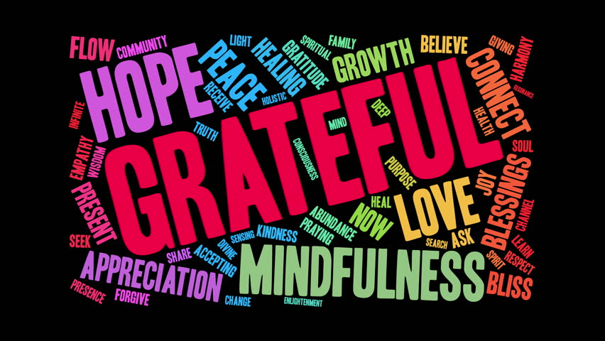 Grateful word cloud on a white background. | Shutterstock HD Video #34408231