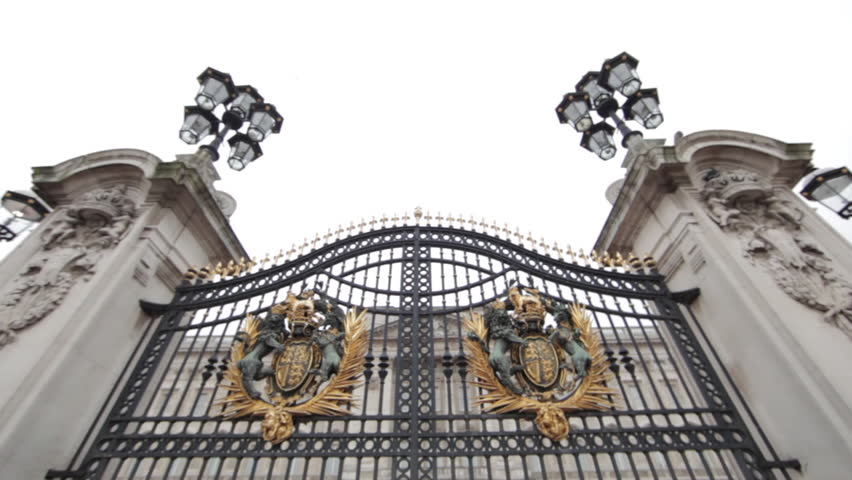 The gates at Buckingham Palace in London | Shutterstock HD Video #3440933
