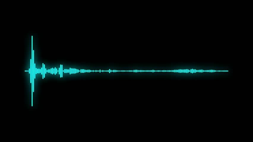 digital audio spectrum sound wave effect