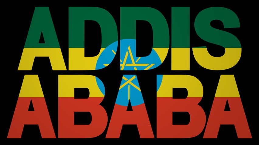Addis Ababa text with fluttering flag animation   Shutterstock HD Video #3443426