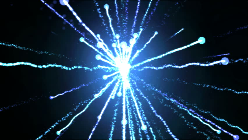 Bright Shooting Particle Light Effect Animation - Loop Blue #34434850
