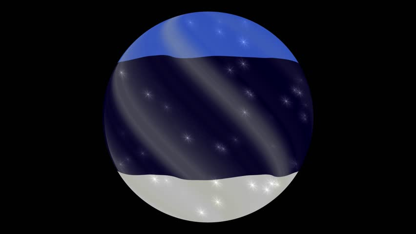 Estonia flag in a round ball rotates. Flicker and shine. Animation loop. Element for web site, presentation, import into video. | Shutterstock HD Video #34445488