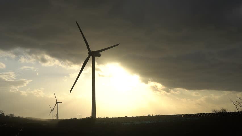Windmill of the wind power generation   Shutterstock HD Video #34482679