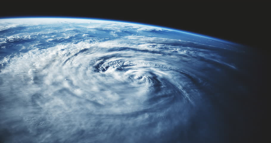 Hurricane as seen from space. (Elements furnished by NASA) | Shutterstock HD Video #34515949