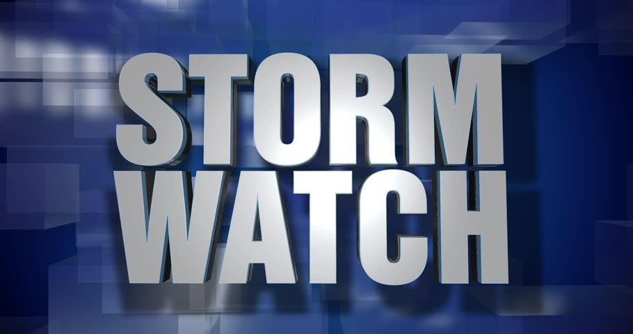 A blue dynamic 3D Storm Watch transition and title page animation. 5 and 2 second options included with optional luma matte for both.  | Shutterstock HD Video #34555540