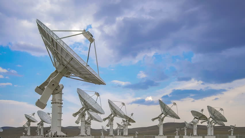 Very Large Satelite Dishes Telescope Array,China - Space Science.