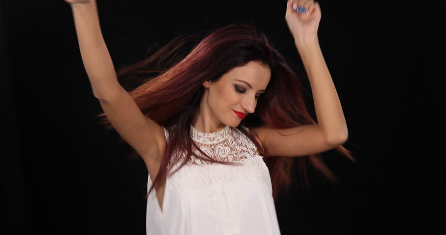 Professional Dance of Happy Sexy Latin Woman Dancer Hot Girl Dancing Enjoy Music