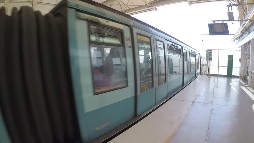 Metro Train station in Santiago, Chile   Shutterstock HD Video #34692094