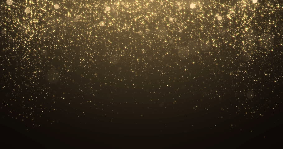 Gold glitter background with sparkle shine light confetti effect.
