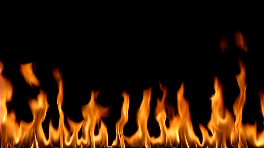 Fire against a black background #3476171