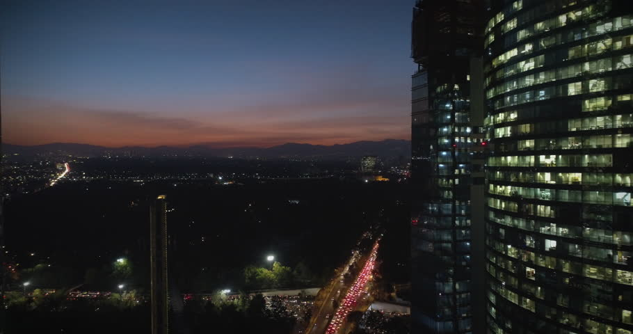 Mexico City, CDMX amazing aerial view