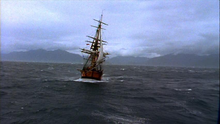 Ship sailing in rough seas #3480680