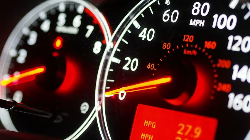 Car speedometer | Shutterstock HD Video #3480767