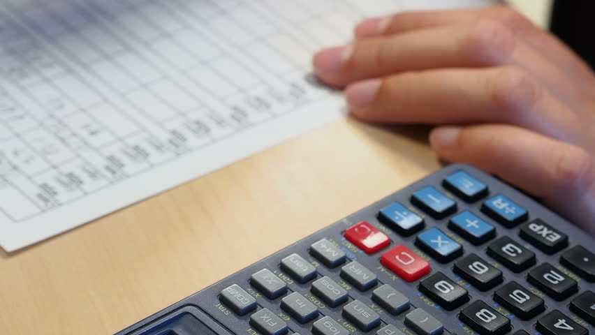 Calculating numbers and entering data | Shutterstock HD Video #3480779