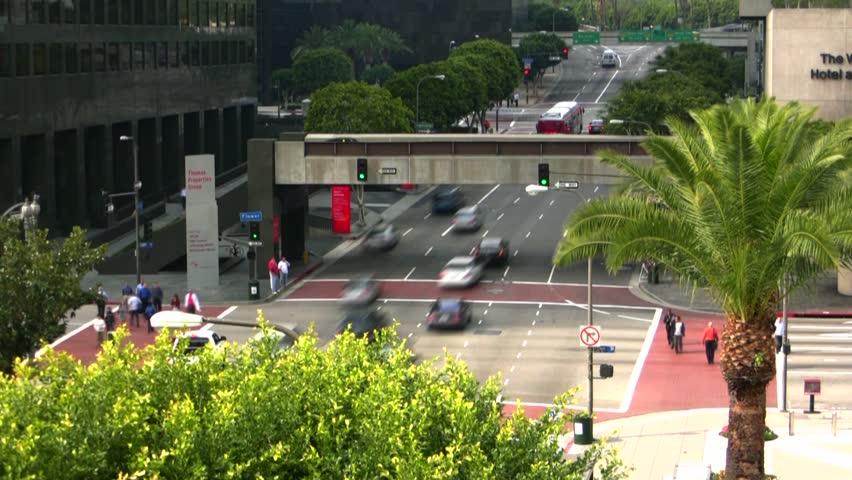 Downtown LA Intersection Time-Lapse | Shutterstock HD Video #3481190