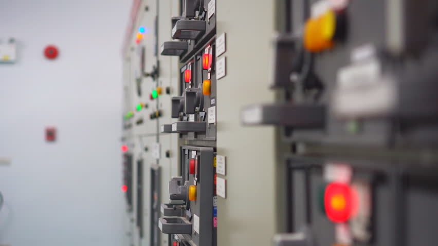 Electrical control panel in substation in manufacturing industrial plant , video for business industrial and energy engineering concept | Shutterstock HD Video #34819642
