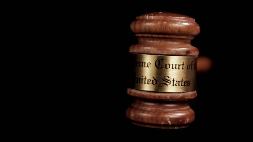 Judge's Gavel rotating - Looping Closeup