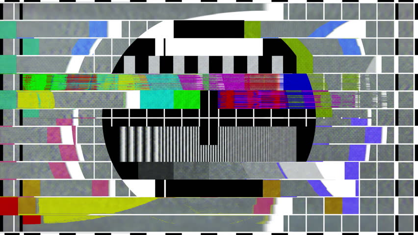 Televison test patterns and colour bars with glitch interference and distortion | Shutterstock HD Video #34853701