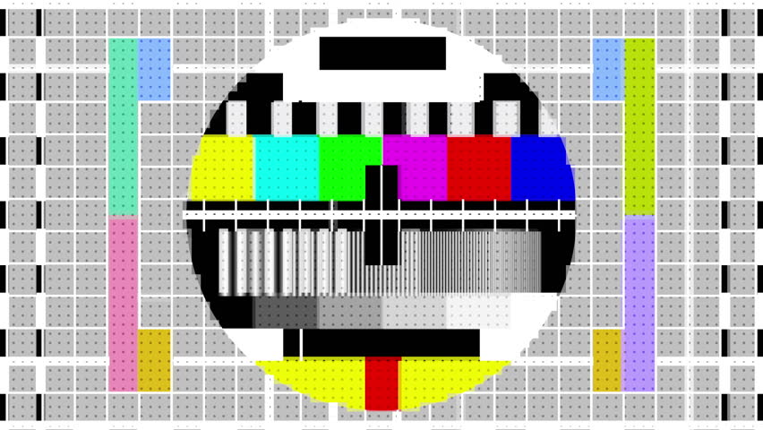 Televison test patterns and colour bars with glitch interference and distortion | Shutterstock HD Video #34853707