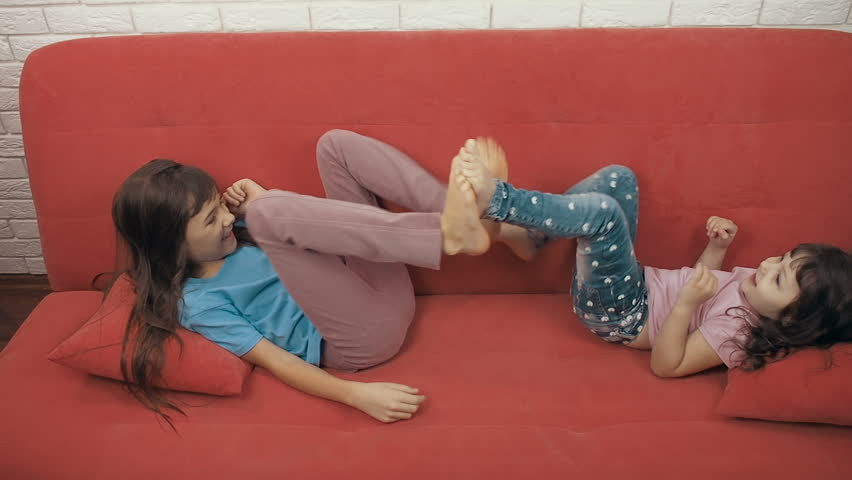 Little Girl Lying On the Stock Footage Video (100% Royalty