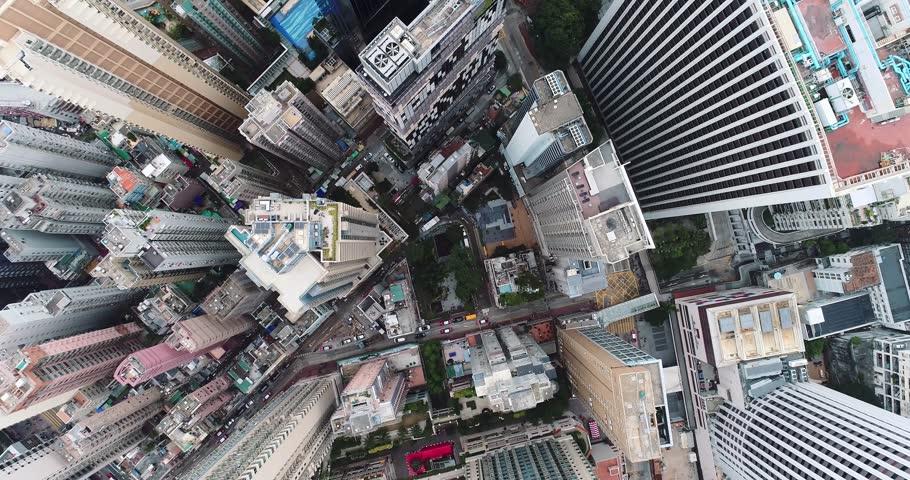 Top view of Hong Kong cityscape #34860904